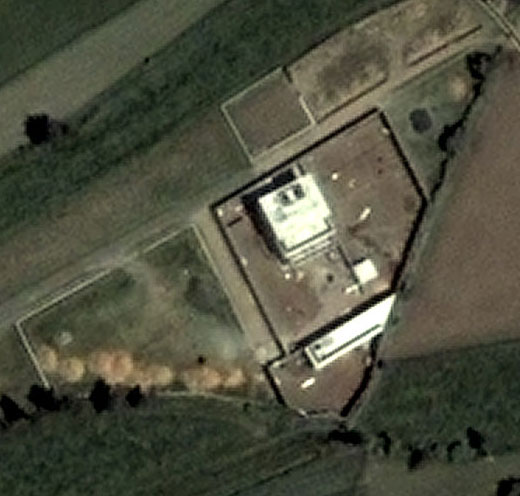 A DigitalGlobe close-up from 2005 shows the compound in earlier times.