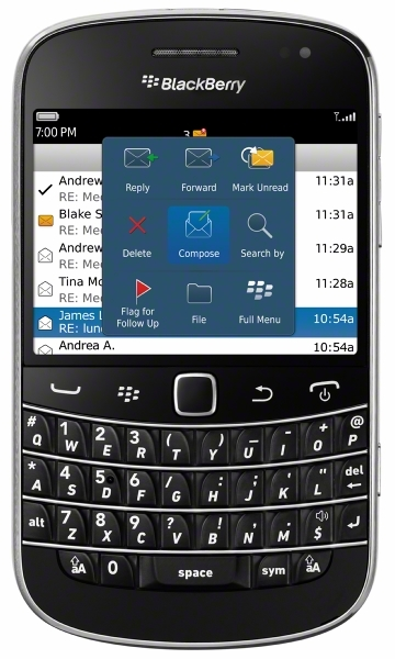 Both Verizon and Sprint are offering the Bold 9930 for $249.99.
