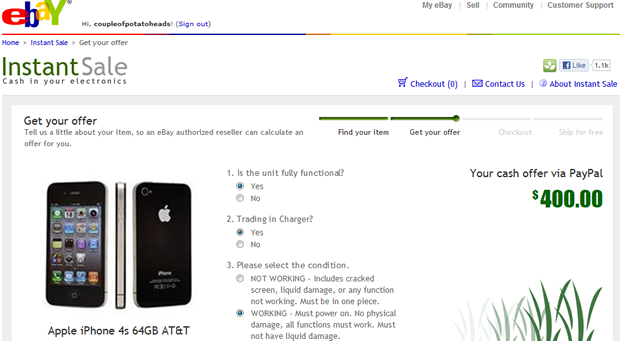 iPhone owners have contributed to a big bump in eBay trade-in offers.