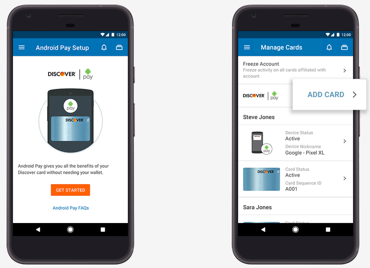 <p>Android Pay partners with major banks to let users add their cards to the payment app.</p>