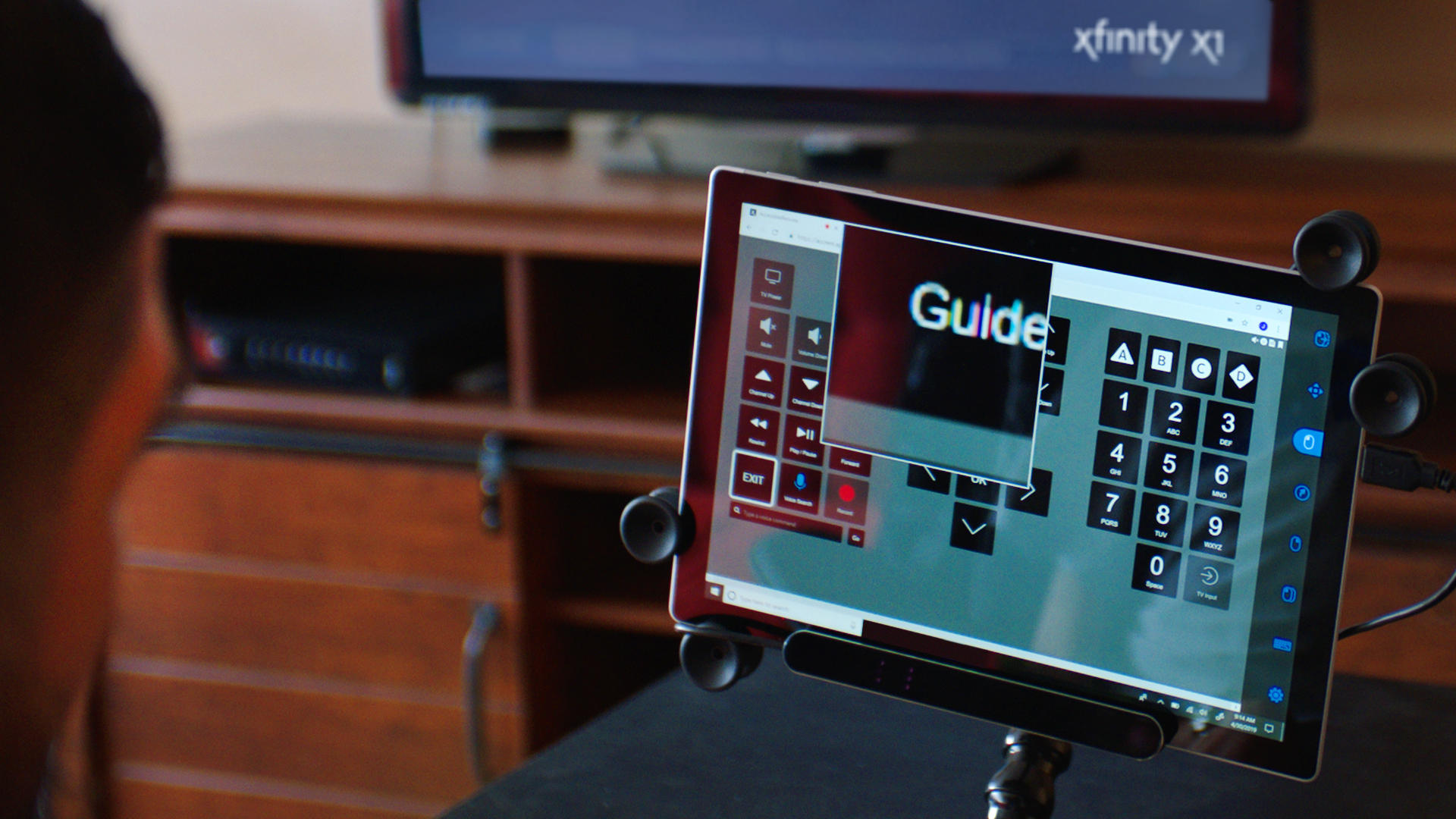Comcast's Xfinity X1 eye control is a web-based remote that pairs with eye gaze systems.