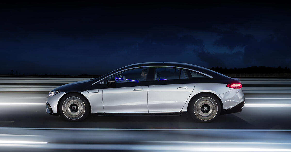 The electric Mercedes EQS is the world's most aerodynamic production c... image