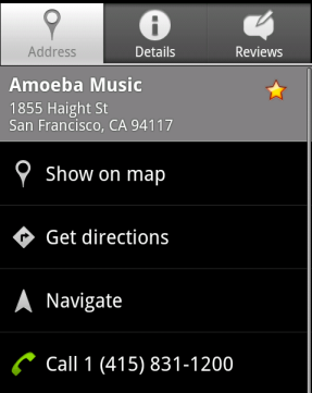 Google Maps for Android get starring