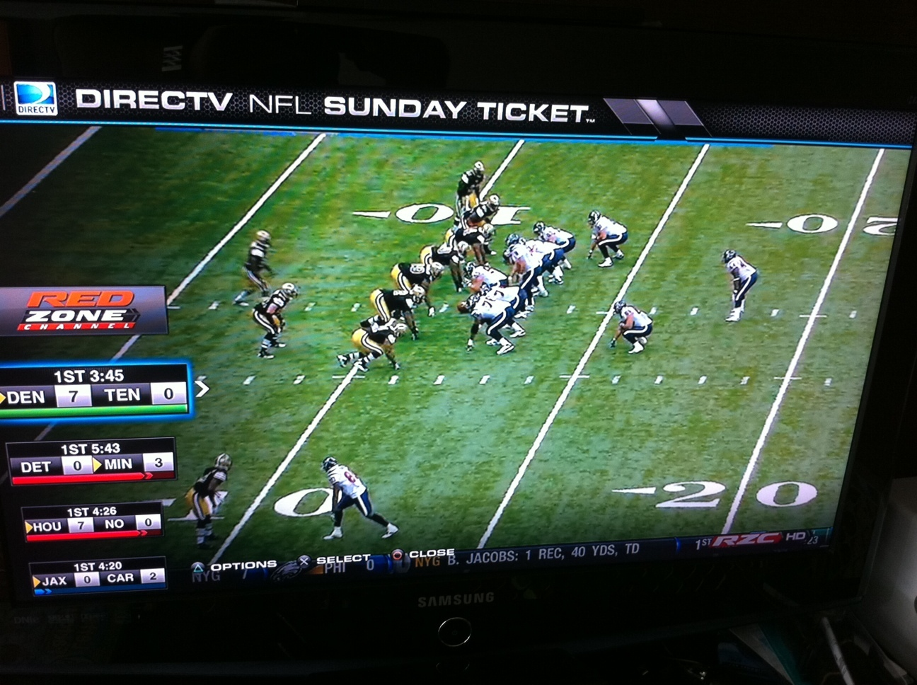 Channel-surfing, NFL-style (aka, my wife's nightmare).