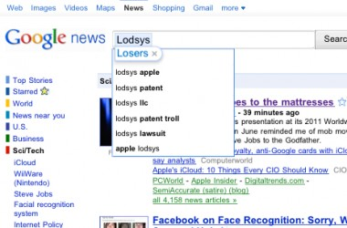 Lodsys in Google search