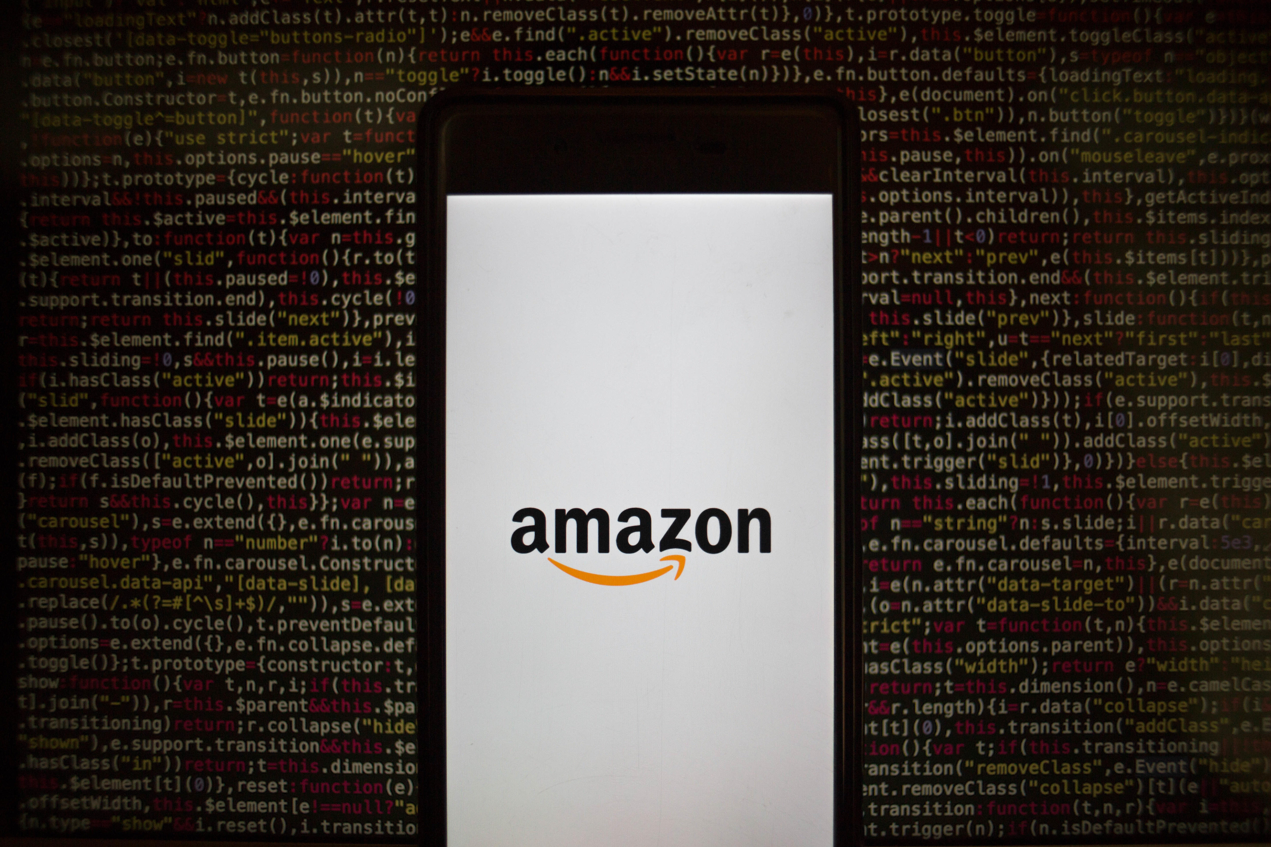 The Amazon application seen displayed on a Sony smartphone