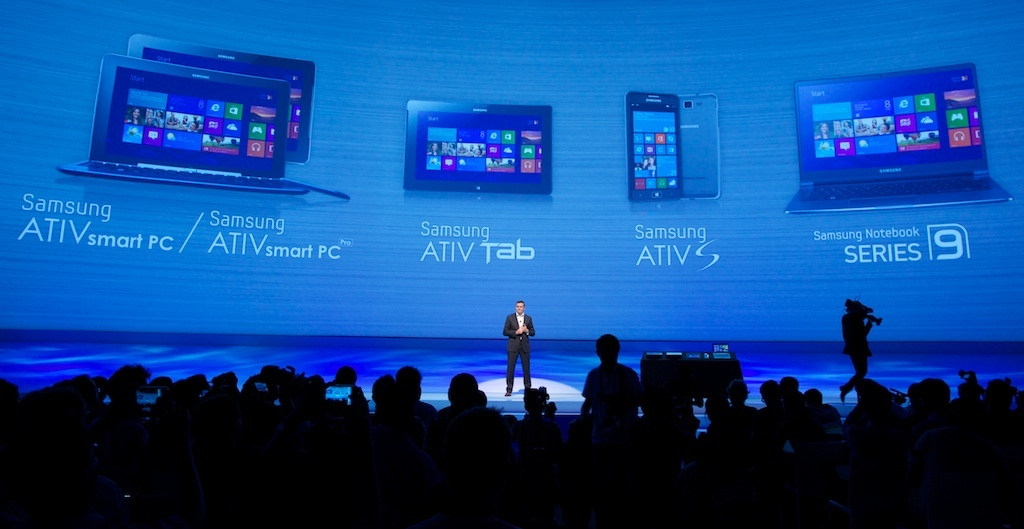 Samsung has a major Android smartphone and tablet effort under its Galaxy brand, but Damien Cusick, general manager of Samsung Electronics UK, was eager to tout the range of new Windows-based devices the company is bringing to market.