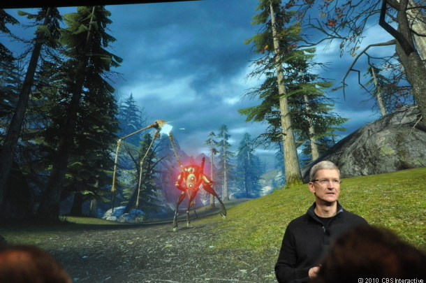 Apple's Tim Cook at a company event in 2010.
