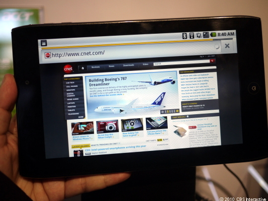 Acer's Iconia A100 tablet may be delayed.