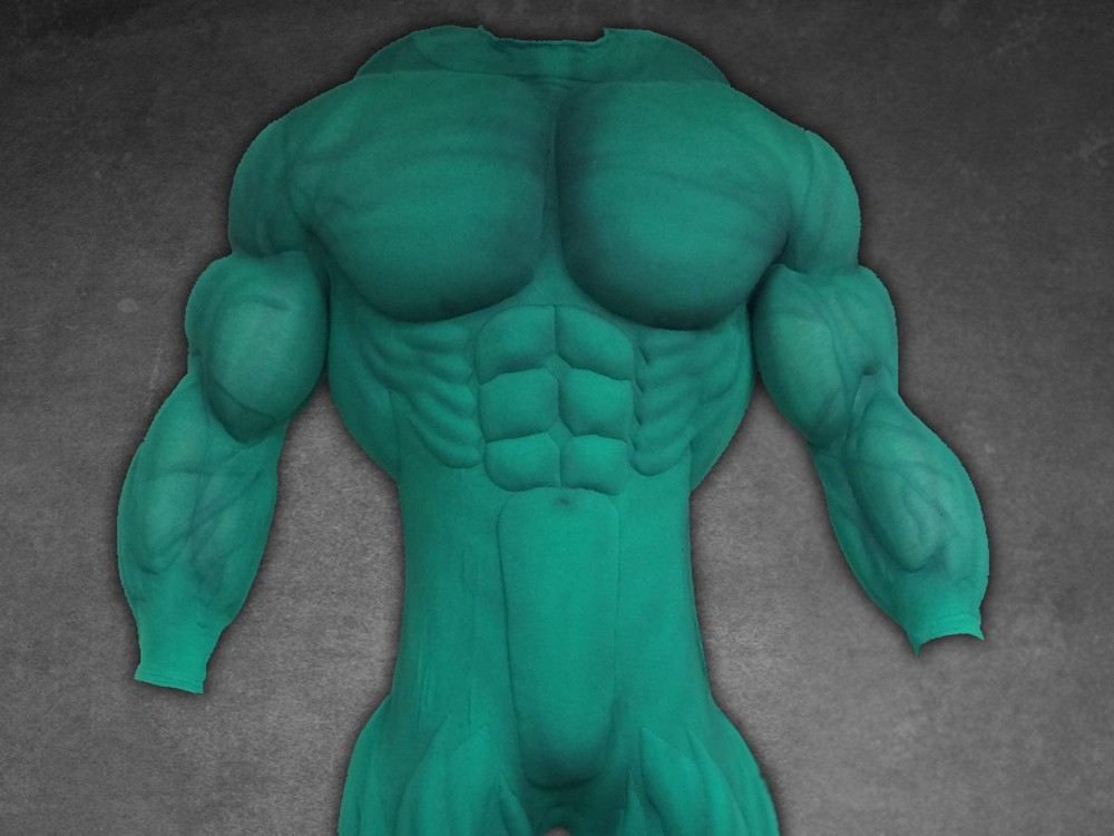 Mega muscle suit in green