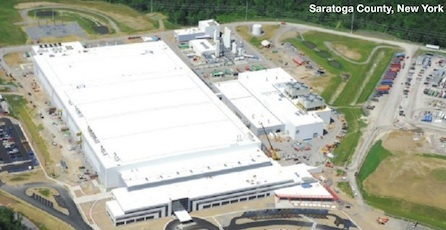 The upstate New York area has become a major hub for chip manufacturing and R&D. A large chipmaking facility is now being completed by Globalfoundries there