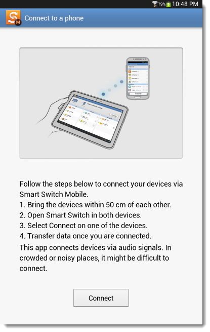 Samsung Smart Switch Mobile connect