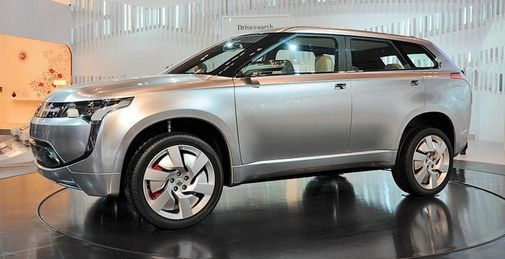 Mitsubishi said the plug-in hybrid coming in 2013 will be similar to the Px-MiEV concept introduced in 2009, shown.