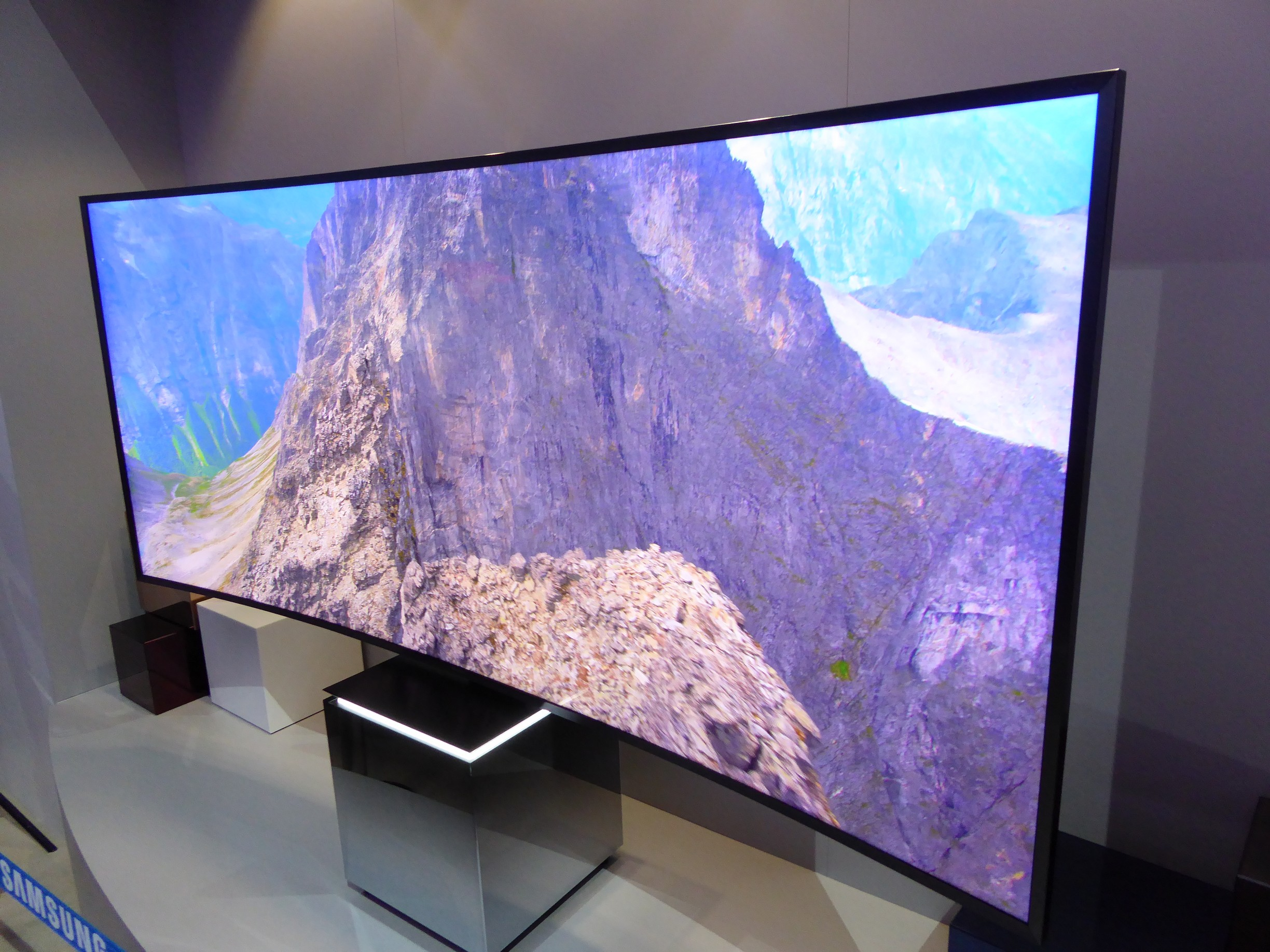 Samsung 85S9W ultra-widescreen curved TV