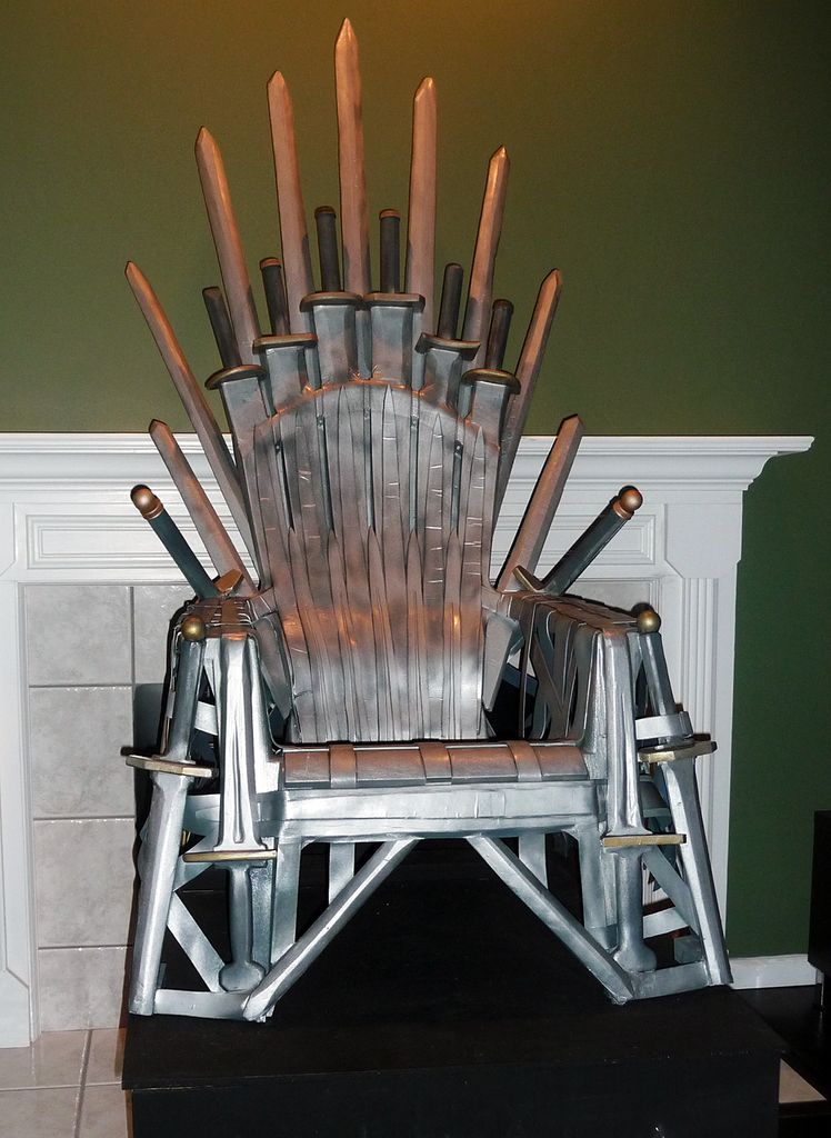 Iron Throne made from plastic chair