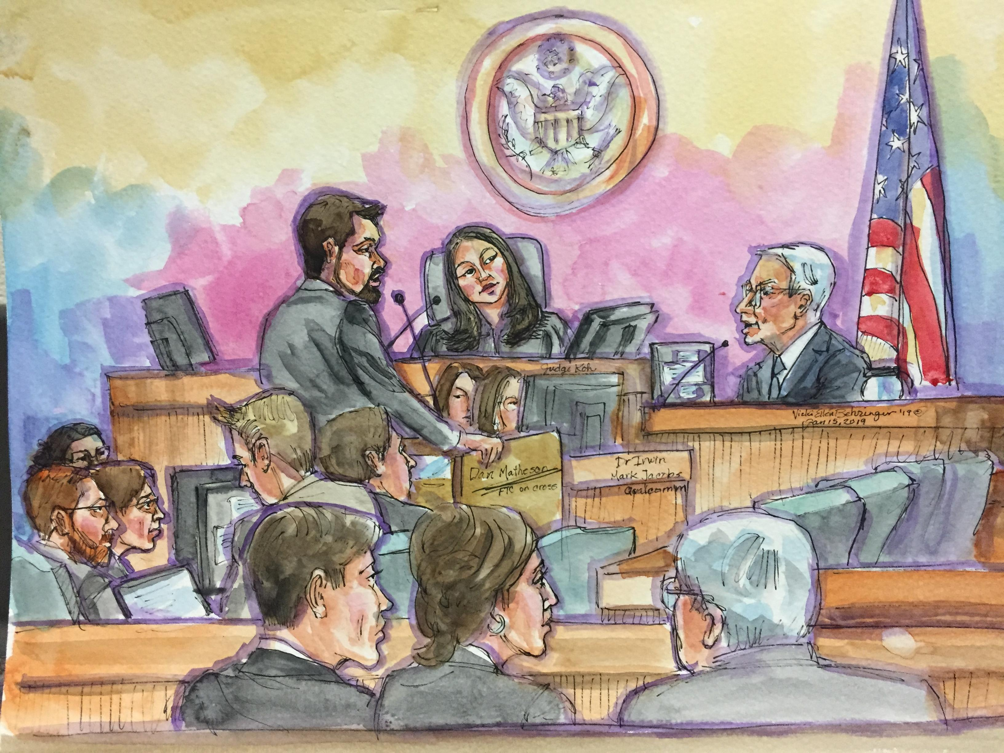 <p>Irwin Jacobs, Qualcomm co-founder, took the stand in his company's defense Tuesday.&nbsp;</p>