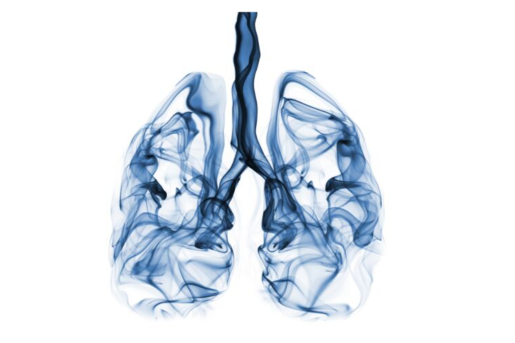 illustration of smoke-filled lungs