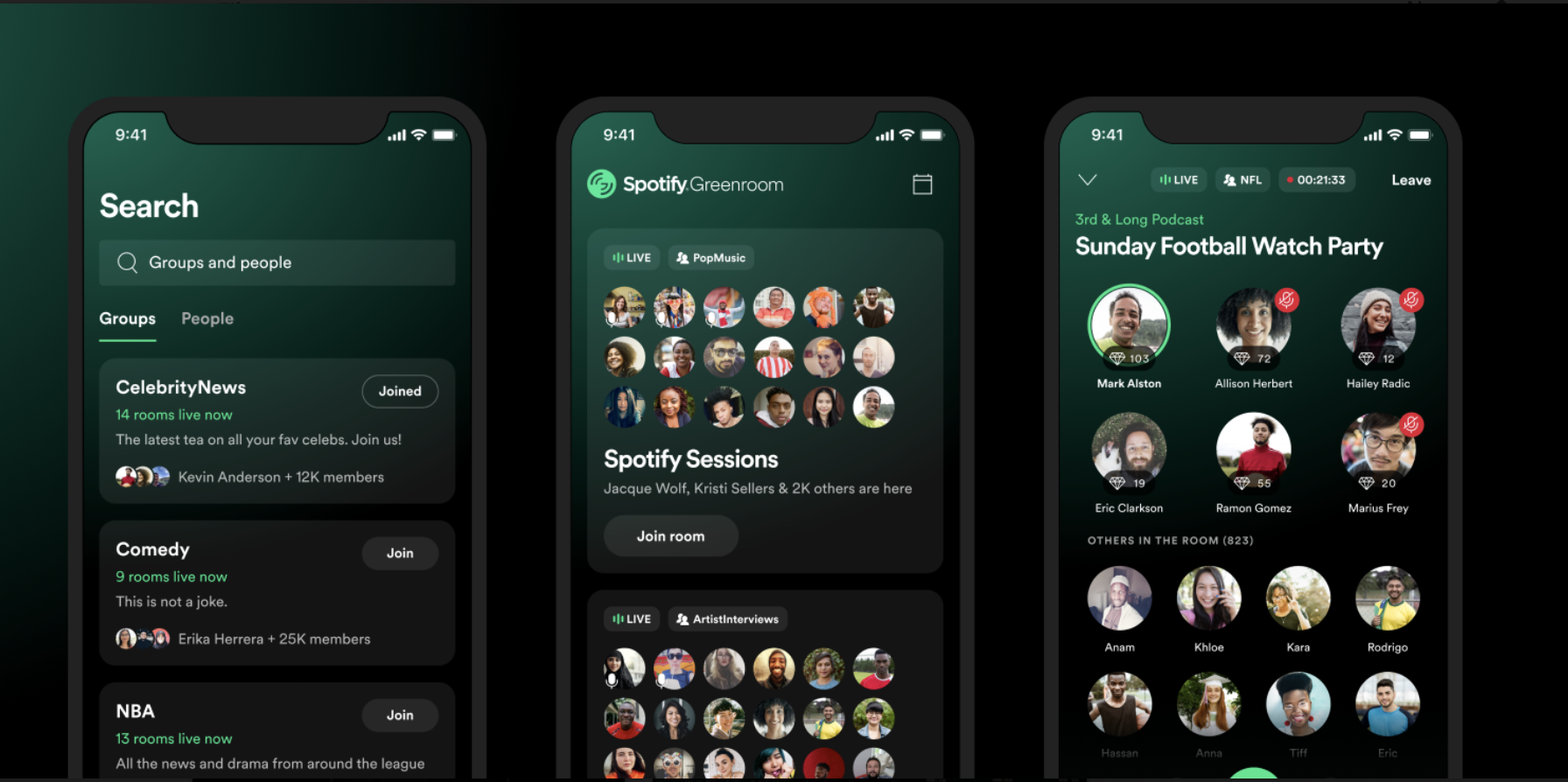 Spotify's Greenroom audio chat app is ready to take on Clubhouse