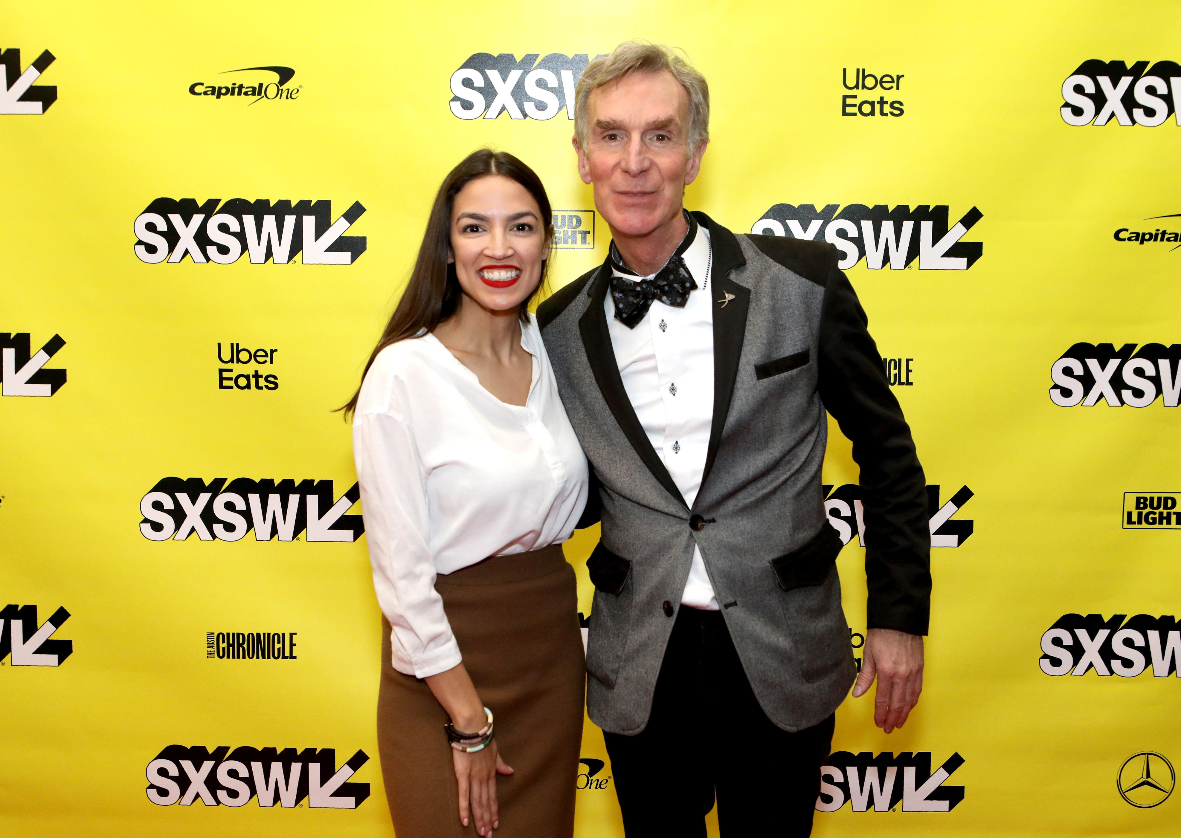 <p>Bill Nye popped up during Alexandria Ocasio-Cortez's session at SXSW.&nbsp;</p>