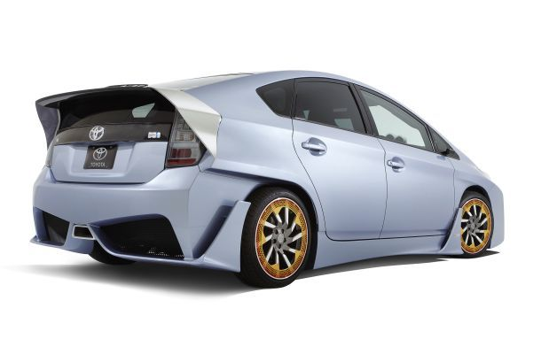 The C&A Prius' long spoiler is designed to reduce drag.