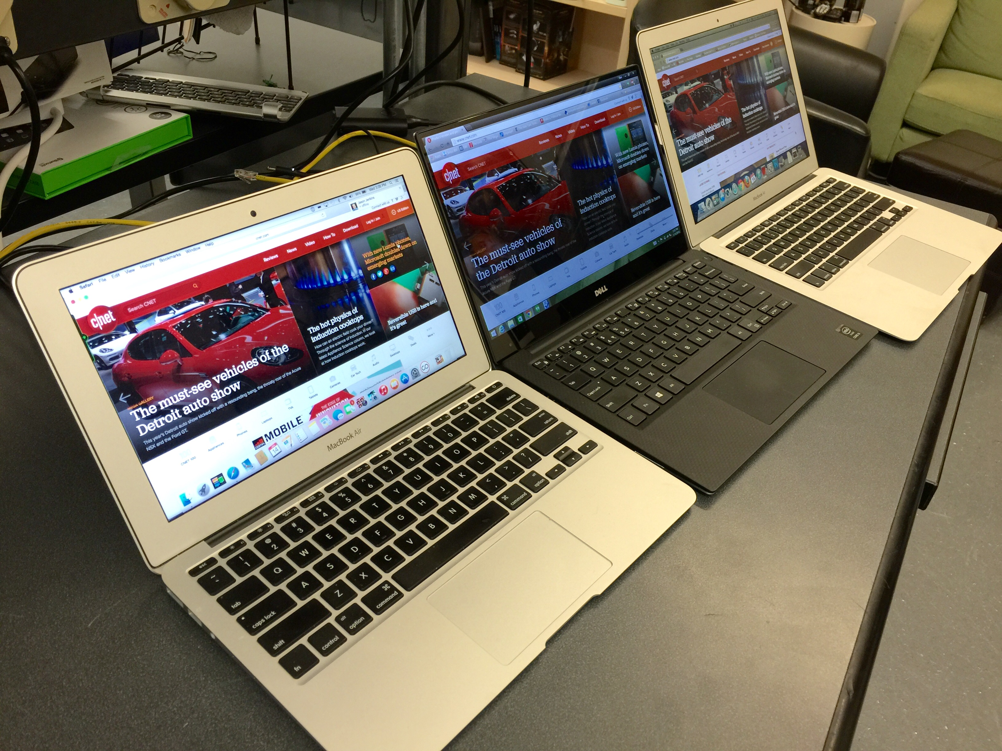 <p>the 11-inch MacBook Air, followed by the XPS 13 and the 13-inch Air.</p>