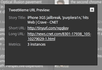 TweetDeck has a preferences option to show details of shortened URLs before you open them.